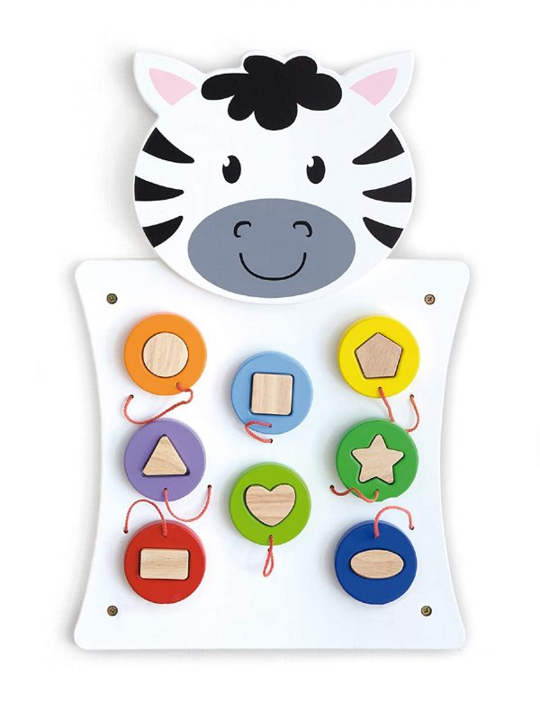 716suR5Qk8L. SL1500  600x781 - Zebra Activity Wall Panel - 18M+ - in Home Learning Activity Center - Wall-Mounted Toy for Kids - Decor for Bedrooms and Play Areas