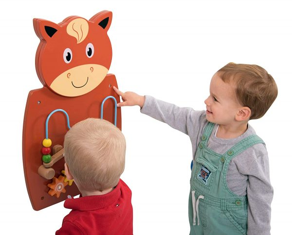 81 axvQk3VL. SL1500  600x484 - Horse Activity Wall Panel - 18M+ - in Home Learning Activity Center - Wall-Mounted Toy for Kids - Decor for Bedrooms and Play Areas