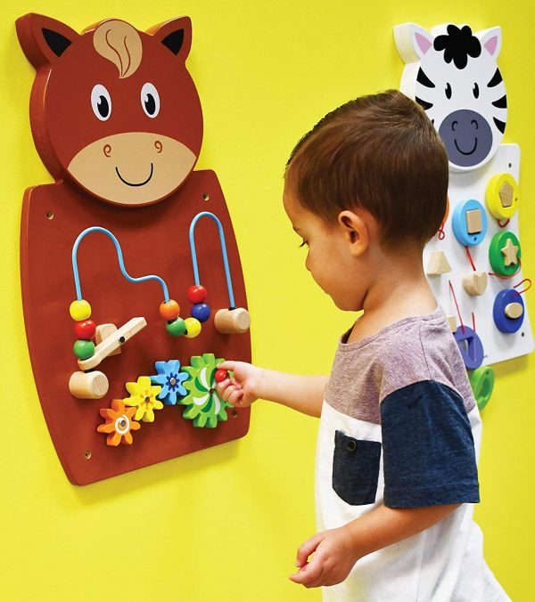 81Vn4mHiNOL. SL1500  600x676 - Horse Activity Wall Panel - 18M+ - in Home Learning Activity Center - Wall-Mounted Toy for Kids - Decor for Bedrooms and Play Areas