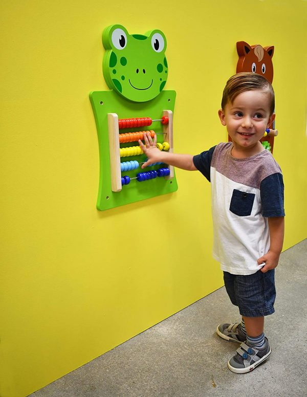 81f0L3YRNL. SL1500  600x776 - Frog Activity Wall Panel - 18M+ - In Home Learning Activity Center - Wall-Mounted Toy for Kids - Decor for Bedrooms and Play Areas