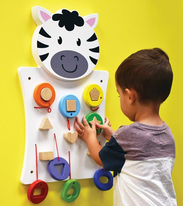 81sTgu2AAKL. SL1500  600x676 - Zebra Activity Wall Panel - 18M+ - in Home Learning Activity Center - Wall-Mounted Toy for Kids - Decor for Bedrooms and Play Areas
