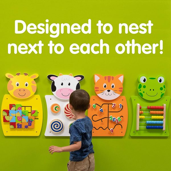 91dbpskU9YL. SL1500  600x600 - Giraffe Activity Wall Panel - 18m+ - Toddler Activity Center - Wall-Mounted Toy - Busy Board Decor for Bedrooms, Daycares and Play Areas