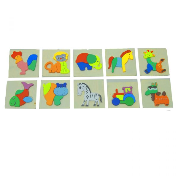 Animals puzzles 600x600 - Animal Puzzle (set of 5)