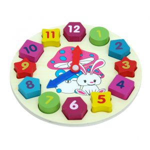 Building Block Clock 300x300 - Creative Peg Puzzle