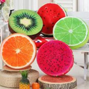Fruit cushion set 300x300 - Plastic colorful storage tub 4pcs