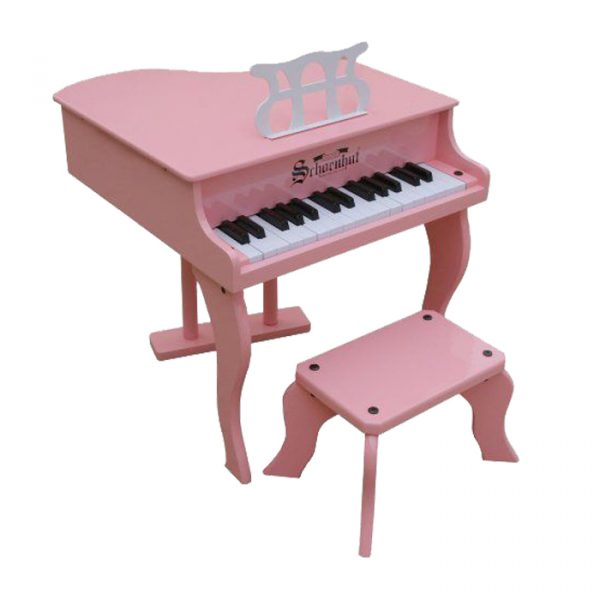 Grand pink piano 600x600 - Wooden Piano with seat