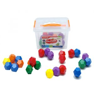 Hexagonal Suction Blocks 300x300 - Gem Blocks Jumbo Manipulative (54 pcs)