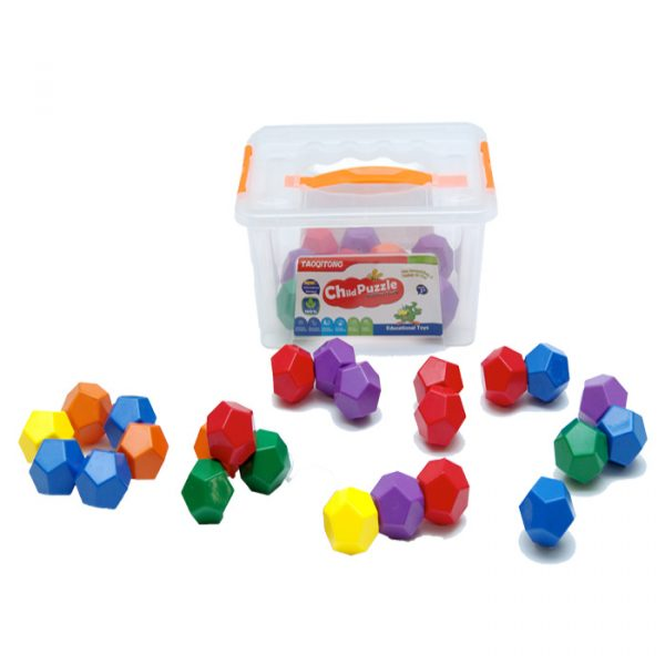 Hexagonal Suction Blocks 600x600 - Gem Blocks Jumbo Manipulative (54 pcs)