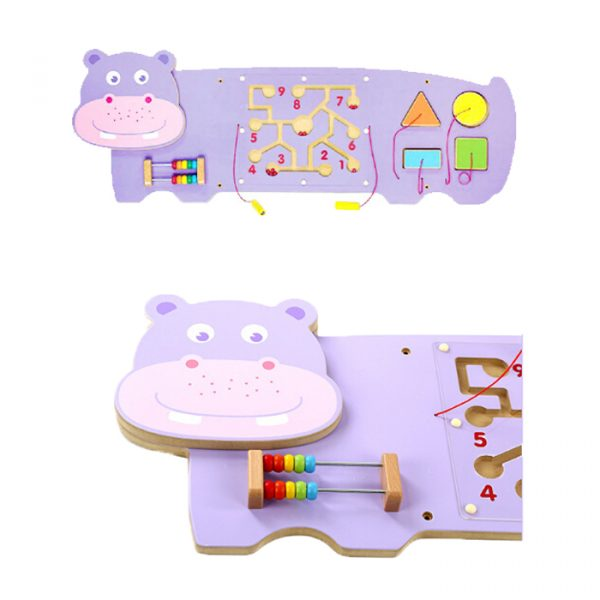Hippo 1 600x600 - Stunning Wooden Hippo Activity Wall
