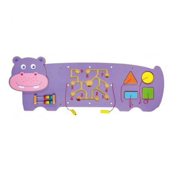 Hippo 2 600x600 - Stunning Wooden Hippo Activity Wall