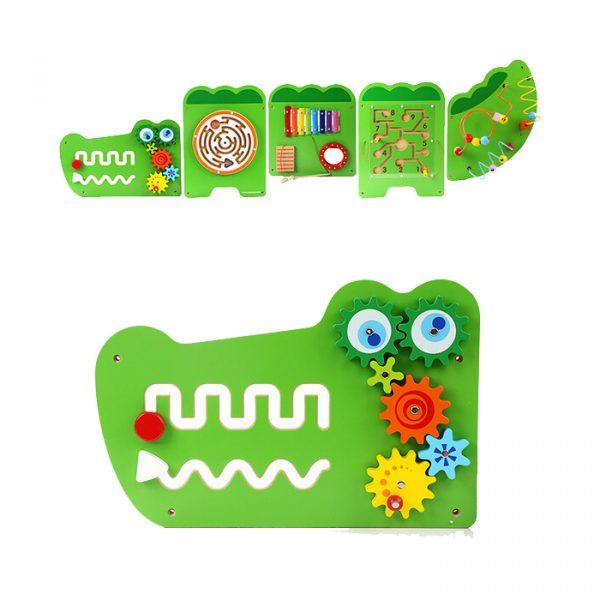 Large crocodile activity wall toy 600x600 - Large Crocodile Activity Wall Toy