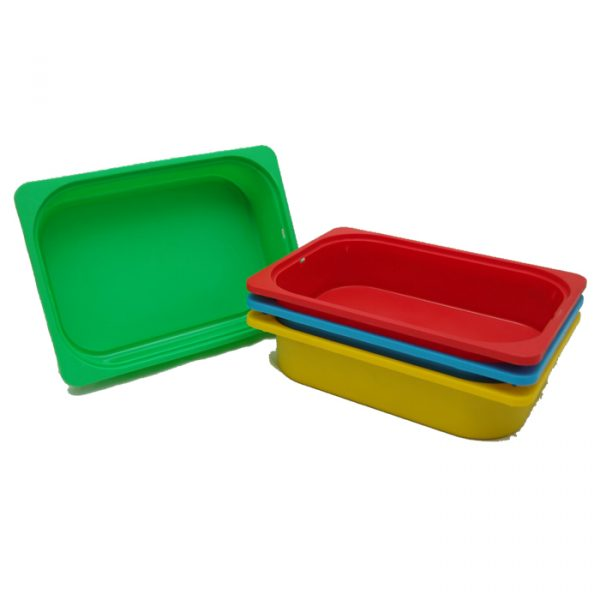 Plastic storage tubs 600x600 - Plastic colorful storage tub 4pcs