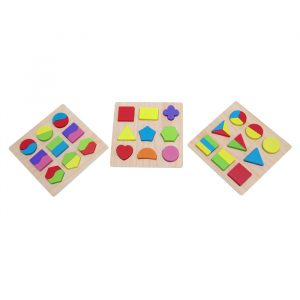 Shape Sorting Board 300x300 - Construction Trucks (set of 4)