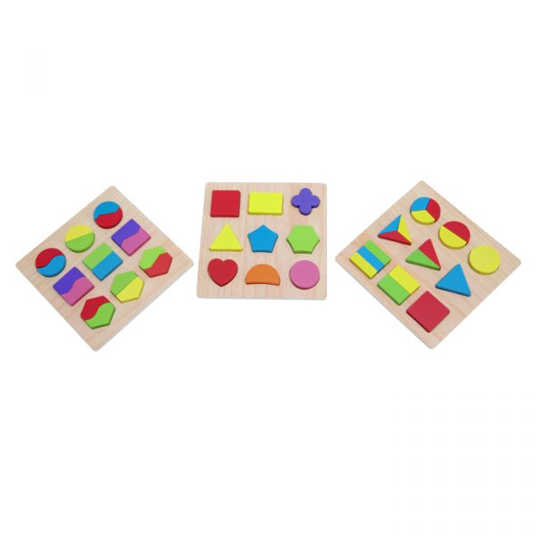 Shape Sorting Board 600x600 - Shape Sorting Boards set of 3