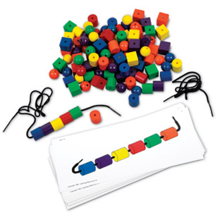 colored beads lacing manipulative - Colored Beads