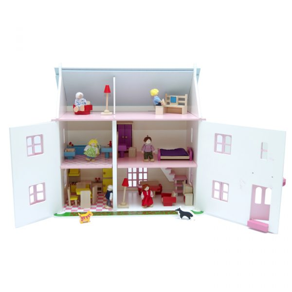 doll house furniture 600x600 - Rose Bud Doll house( Furnished)