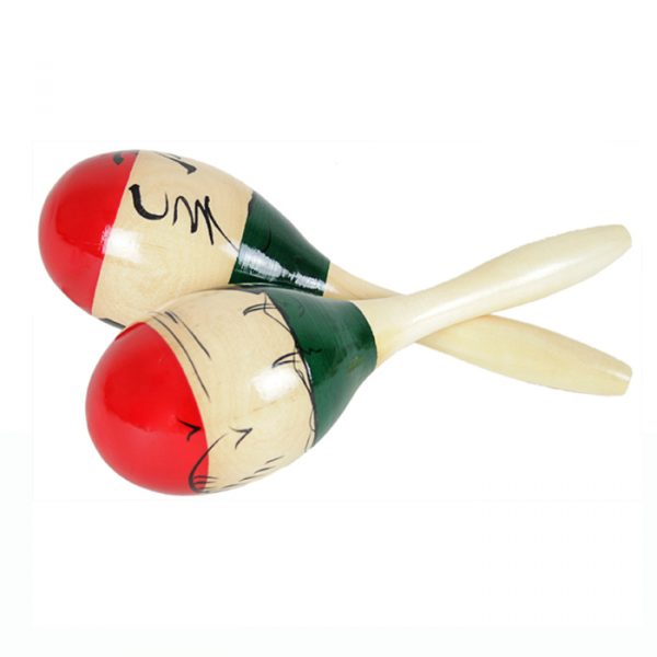 natural hand paint maracas 600x600 - Natural hand paint Wooden Maracas (Large)