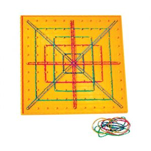 pingeoboard 300x300 - Double-sided Isometric Coloured Pinboards 4pk
