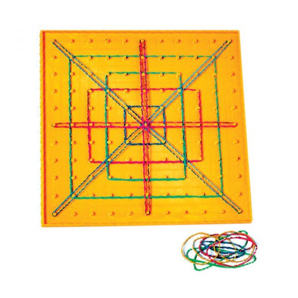 pingeoboard 600x600 - Geo Board  Isometric Coloured Pin board 4pk