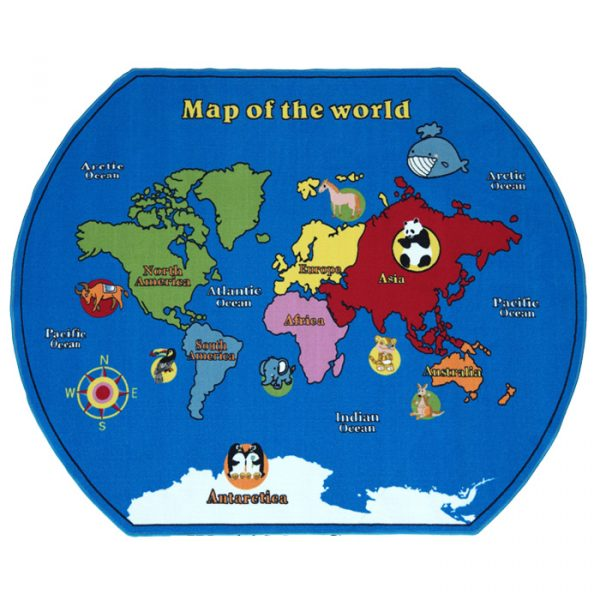 world map carpet 600x600 - World Map Carpet