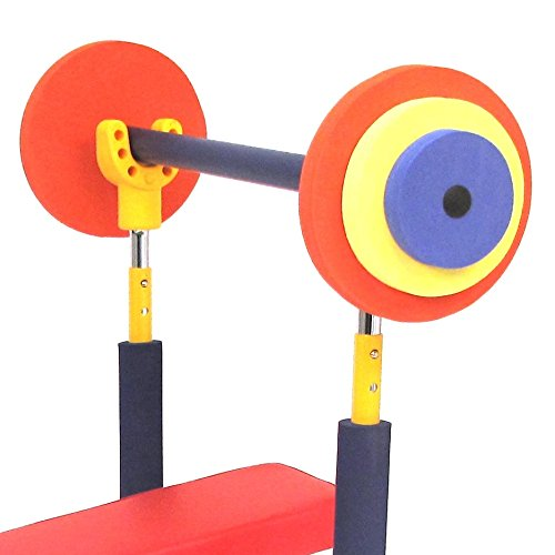41KTJSe38DL - Weight Bench Set Fun & Fitness Exercise Equipment for Kids