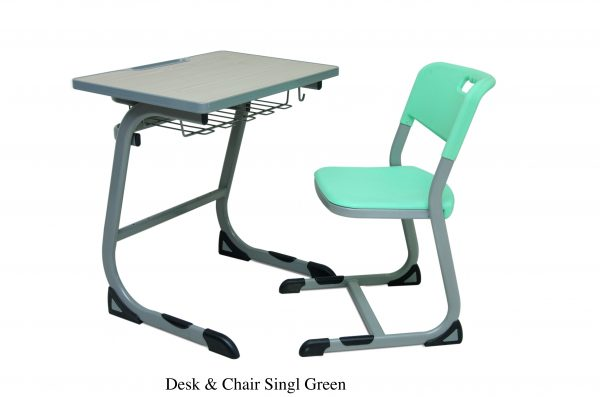 DESKCHAIR SINGLE 600x397 - Desk & Chair single(Green)