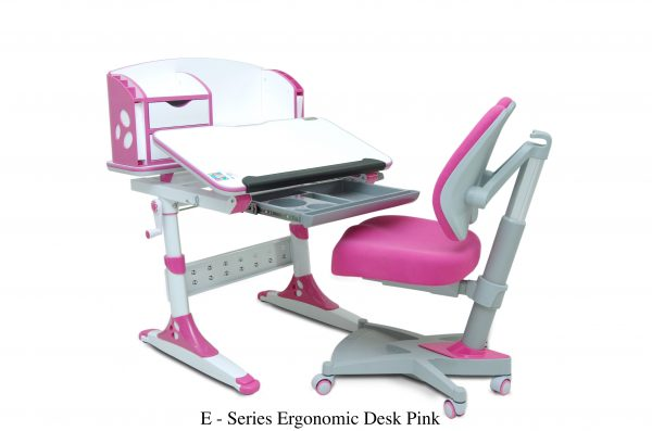 E SERIES ERGONOMIC DESK PINK. 600x397 - E-SERIES ERGONOMIC DESK PINK.