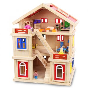 Happy family wooden toy dollhouse 2 300x300 - Happy Family Doll House