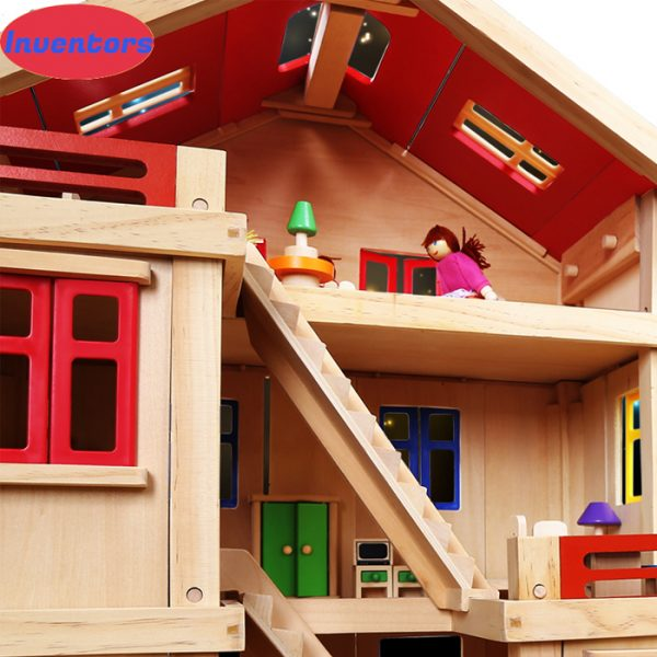 Happy family wooden toy dollhouse 3 600x600 - Happy Family Doll House