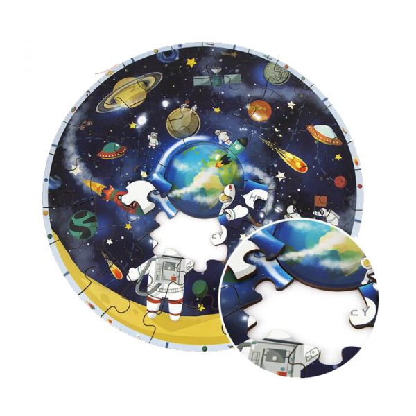 Planet Jigsaw Puzzle 600x600 - Wooden Jigsaw Puzzle Children Toy Planet Map