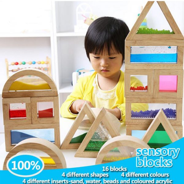 Rainbow Sensory Blocks 600x600 - Rainbow Sensory Building Blocks