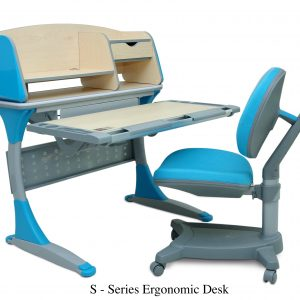S SERIES ERGONOMIC DESK 300x300 - Desk & Chair single(Green)