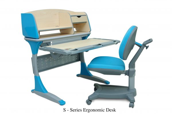 S SERIES ERGONOMIC DESK 600x397 - S  Series  Ergonomic Desk & Chair
