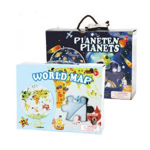 World Map Puzzle 300x300 - Wooden Jigsaw Puzzle Children Toy Planet Map