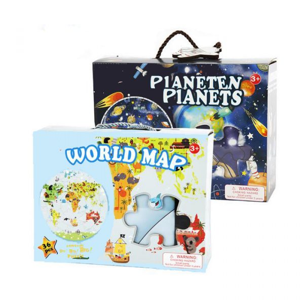World Map Puzzle 600x600 - Wooden Jigsaw Puzzle (World Map)
