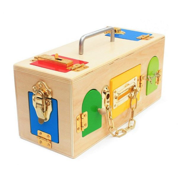 61vmSJyM6OL. SL1100  600x600 - Wooden Toy Lock Activity Box