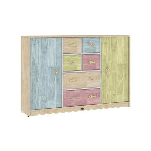Drawer storage chest with doors RS.18500 300x300 - Haya Square Table