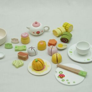Italian tea time 1 300x300 - Mother garden children's playhouse strawberry delicious cake afternoon tea groups wooden toy set