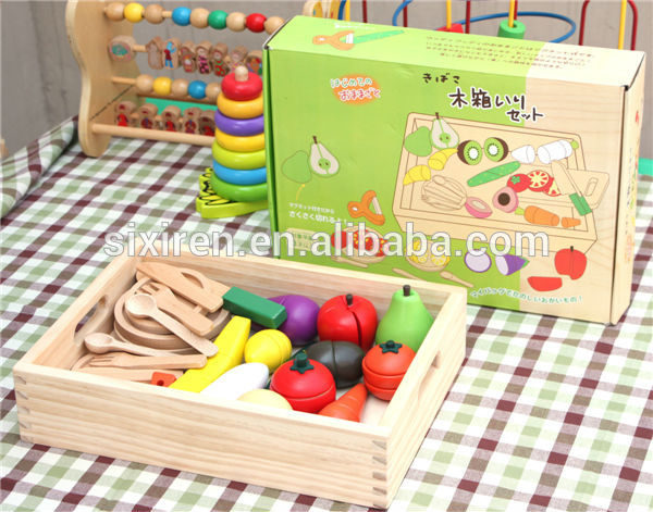 Japanese Wooden Magnetic Vegetables and Fruits Toys 600x471 - Japan food set solid