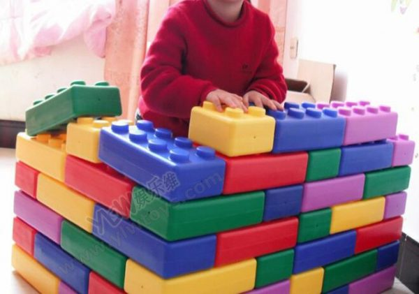 Kindergarten playground toys plastic building blocks toys Happy big blocks Children plastic brick 45PCS kid household.jpg 640x640 600x421 - Halo Nation Jumbo Blocking Blocks