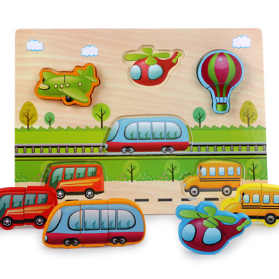 New Arrival Baby Toys 3D Puzzle Wooden Toys Carton Animal Fruit Vehicle Matching Board Children Educational.jpg 640x640 2 - Wooden Puzzles (set of 6)