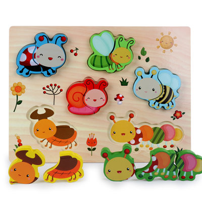 New Arrival Baby Toys 3D Puzzle Wooden Toys Carton Animal Fruit Vehicle Matching Board Children Educational.jpg 640x640 4 - Wooden Puzzles (set of 6)
