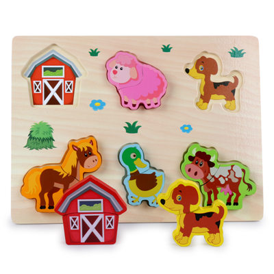 New Arrival Baby Toys 3D Puzzle Wooden Toys Carton Animal Fruit Vehicle Matching Board Children Educational.jpg 640x640 - Wooden Puzzles (set of 6)