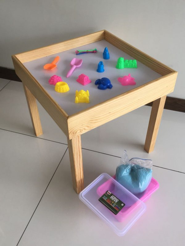 WhatsApp Image 2018 07 11 at 10.36.28 PM 600x800 - Space Sand table Wooden with 5 kg Space Sand
