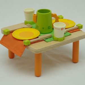 wooden teaset with table 300x300 - Wooden tea set with table