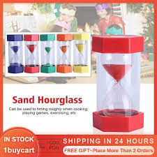 images 3 - 20 Minutes Sand Timer Hourglass Toy ,Sand Clock For Kids Games Classroom Kitchen Home Office Decoration(Yellow, Blue, Red)
