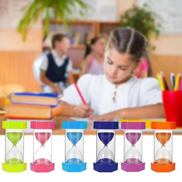 s l1600 600x600 - 20 Minutes Sand Timer Hourglass Toy ,Sand Clock For Kids Games Classroom Kitchen Home Office Decoration(Yellow, Blue, Red)