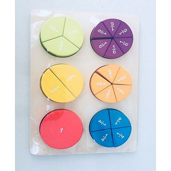 1 600x600 - 3D Fractions In A Circle In Pastel, Maths Educational Item, Class Room Study,