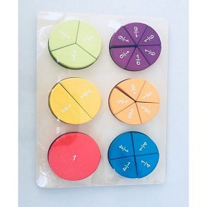 2 300x300 - 3D Fractions In A Circle In Pastel, Maths Educational Item, Class Room Study,