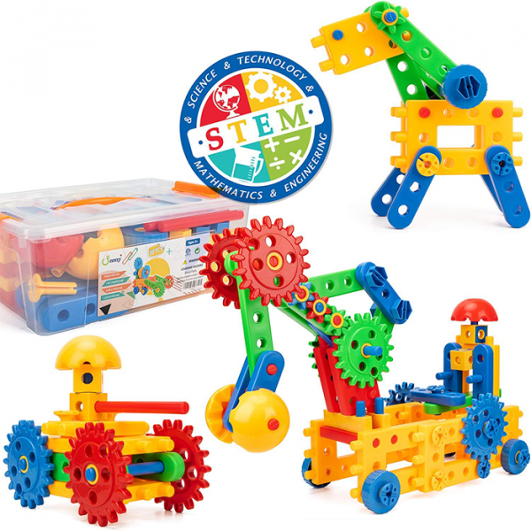 Untitled 1 600x600 - MERCY STEM Learning | Original 110 Piece Educational Construction Engineering Building Blocks Set for 3,4,5,6 Year Old Boys & Girls | Best Kids Toy | Creative Games & Fun Activities